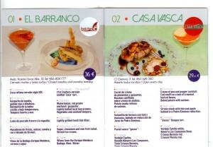 Menús Jornadas Gastronomicas